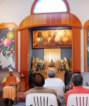 Swami Bhaskarananda conducts the monthly retreat program